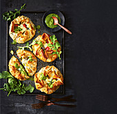 Filo pastry parcels with ratatouille and feta