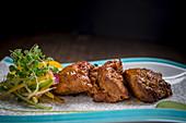 Spicy beef tikka (India)