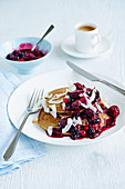 Pancakes with summer berries