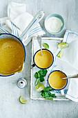 Punpkin and lime soup