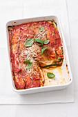 Parmigiana di zucchine e scamorza (zucchini scamorza casserole, Italy)