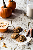 Gluten-free pumpkin and oatmeal cookies