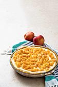 No Bake Pfirsich-Mango-Pie mit Relish
