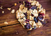 Oatmeal breakfast cookie with cranberries