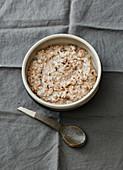 Warm spelt porridge with cinnamon