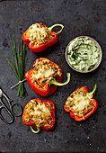 Stuffed peppers with avocado quark