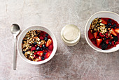 Berry muesli with cinnamon yoghurt