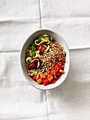 Pepper salad with buckwheat