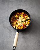 Kartoffelgulasch mit Tofu