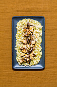 Herb risotto with mushrooms