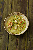 Thai curry with seafood