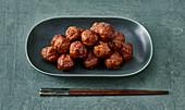 Japanese teriyaki meatballs