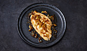 Japanese plaice cooked with sake, mirin and soy sauce