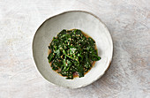 Japanese spinach with sesame seeds