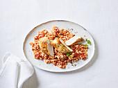 Tomaten-Blumenkohlreis mit Hähnchen
