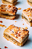Rhubarb and almond shortbread bars