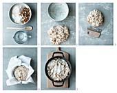 Haselnuss-Feigen-Brot im Topf backen