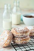 Donuts auf Abkühlgitter