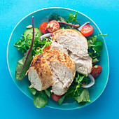 Mixed leaf salad with chicken breast fillet