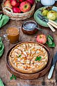Apple Pie mit Karamelsauce