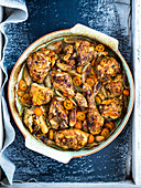 Chicken in Sichuan pepper sauce with shallots and kumquats