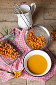 Sea buckthorn and sea buckthorn soup