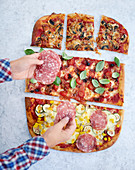 A colourful pizza – something for everyone