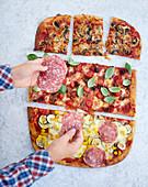 Bunte Pizza für alle