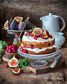 Fig and raspberry cake
