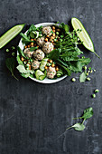 Japanese rice ball salad