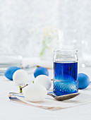 Blue easter egg dye for colouring eggs