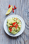 Guacamole with chilli strips