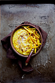 Indisches Kitchari mit Kürbis und Hirse (Ayurvedische Küche)