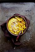 Indian kitchari with pumpkin and millet (ayurvedic cuisine)