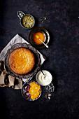 Orangen-Olivenölkuchen mit Kardamom-Orangensirup (glutenfrei)