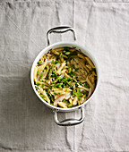 Asparagus and chervil pasta (one pot pasta)