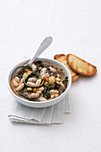 Ribollita toscana (vegetable stew with beans, Italy)