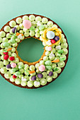 A ring-shaped Easter cake