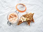 Salmon mousse with horseradish
