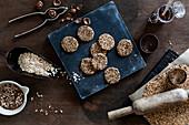 Preparation of no-bake oatmeal cookies