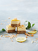Healthy lemon and coconut slices