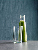 A green chard smoothie with cucumber and banana