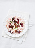 Risotto with rosé grapes