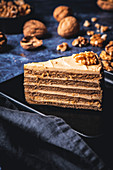Medovnik (Czech honey cake)