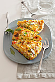 Vegetable and ham frittata