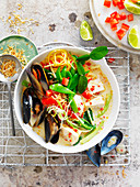 Seafood In Coconut Broth
