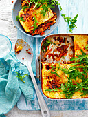 Char-grilled Zucchini and Lentil Lasagne