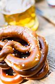 Pretzels and beer