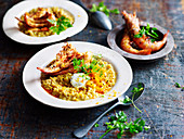 Prawn Barley Risotto with Chilli