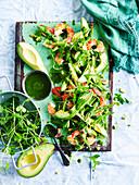 Avocado, Prawn and Asparagus Salad